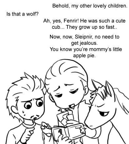 Haha, tony learns of lokis children!!!