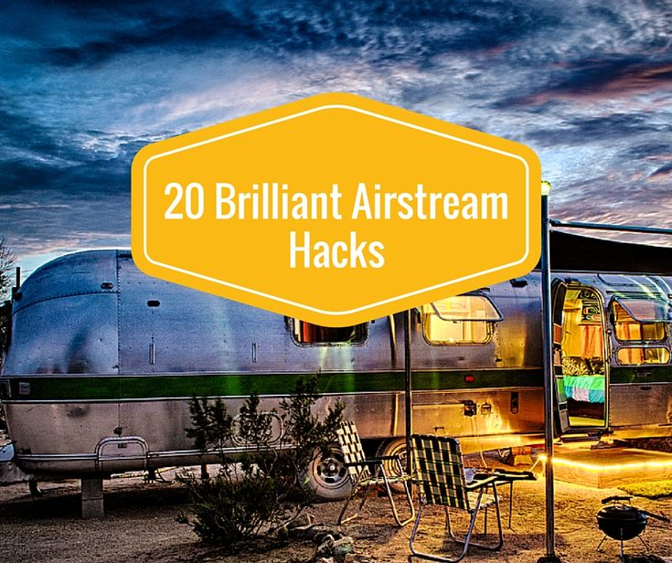 Some easy Airstream hacks! https://www.roverpass.com/blog/20-brilliant-airstream-hacks-4/