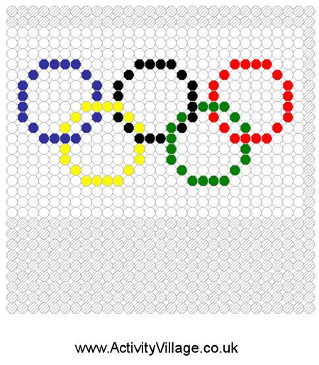 Olympic rings fuse bead pattern