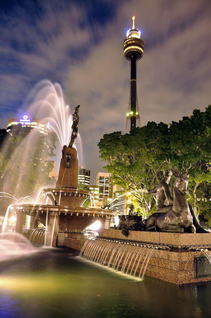 Archibald Fountain Hyde Park, Sydney, Australia