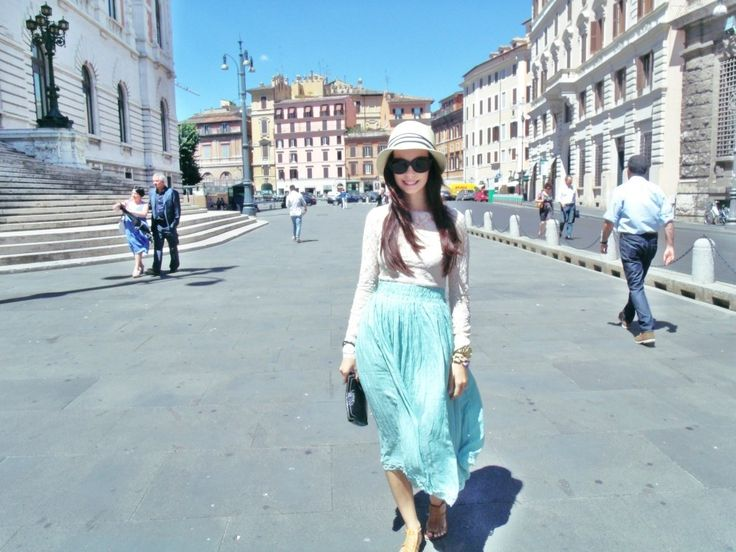 When in Rome...Midi Skirt!