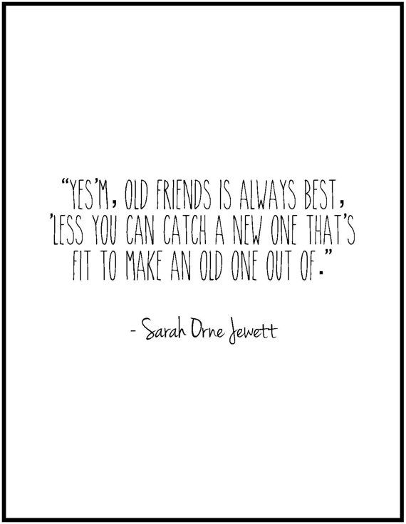 New old friends quote print bridesmaid gift by JenniferDareDesigns, $8.00