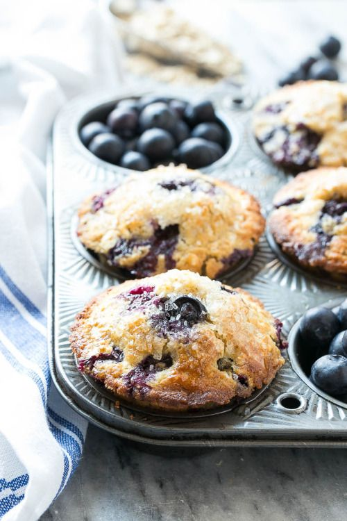 These healthy blueberry muffins are made with whole wheat flour and oatmeal for added nutrition, but they still taste as good as the original recipe! (via Healthy Blueberry Muffins - Dinner at the Zoo)