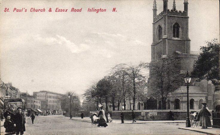 Islington.St Paul's Church & Essex Road # 2735 by Charles Martin.