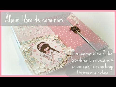 Tutorial libro-álbum comunión. Parte 2: encuadernar Zutter, carpeta exterior, portada - YouTube