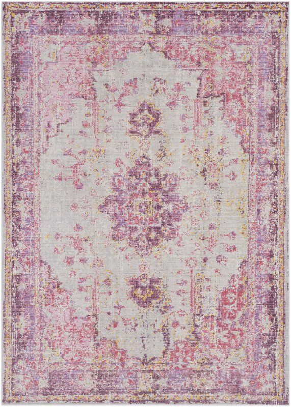 Kahina Pink Gray Area Rug Michelle Lewis Pink Rug