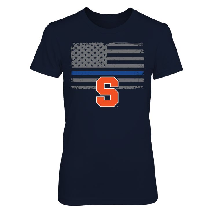 Syracuse Orange - Thin Blue Line T-Shirt  Syracuse Orange Official Apparel - this licensed gear is the perfect clothing for fans. Makes a fun gift!  AVAILABLE PRODUCTS District Women's Premium T-Shirt - $29.95   District Women District Men Next Level Women Gildan Unisex Pullover Hoodie Gildan Long-Sleeve T-Shirt Gildan Fleece Crew Gildan Youth T-Shirt View sizing / material info This is a fitted female style. For a true fit order size up. ...