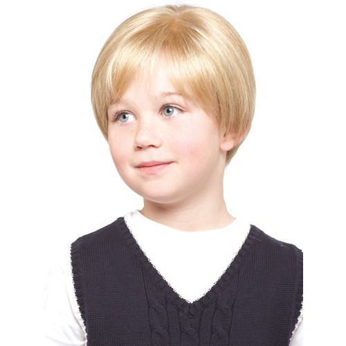 This unisex style has a tapered nape and natural body.  (Child's wig) Melbourne, ships Australia wide.