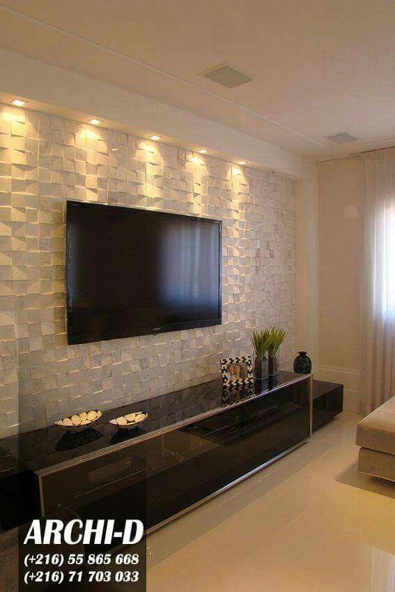deco - Fernseher An Der Wand Im Schlafzimmer