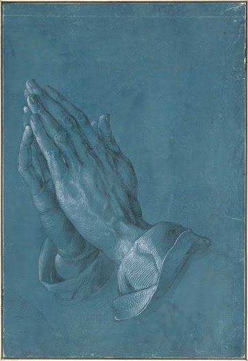 Mains en prière, dessin d'Albrecht Dürer, exécuté vers 1508.