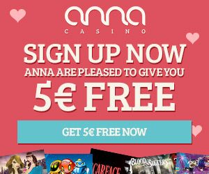 Anna Casino (NetEnt) Is Offering NEW Players €5 FREE On Sign Up. No Usa. 100% Match Up To €200 + 80 FREE Spins On 1st Deposit. Info Here: http://casinondcentral.myfreeforum.org/about446.html