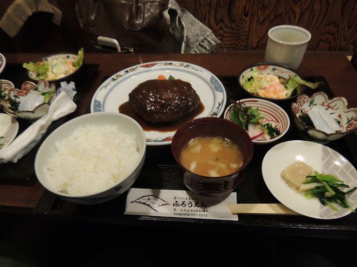 京都銀閣寺付近にある、洋食屋ふろうえんのハンバーグ定食。  #kyoto