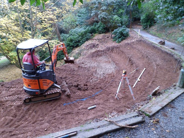 Start of amphitheatre project Nov 2012, Trebah Garden, Cornwall.
