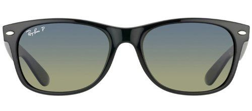 ef202f20bd ... new ray ban rb2132 901 76 new wayfarer black crystal blue gradient  green lens 52mm polarized