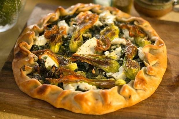 ... Ottolenghi's recipe for Swiss chard and herb tart with young cheese