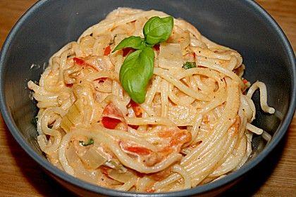 Spaghetti - Tomaten - Feta - Pfanne (Rezept mit Bild) | Chefkoch.de