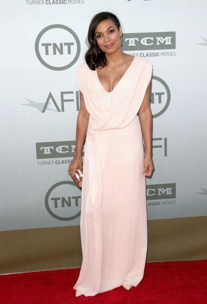 Fabulously Spotted: Rosario Dawson Wearing Osman - 2014 AFI Life Achievement Award Honoring - http://www.becauseiamfabulous.com/2014/06/rosario-dawson-wearing-osman-2014-afi-life-achievement-award-honoring/
