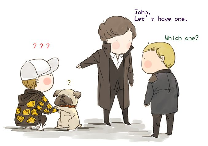 fluffy johnlock sherlock - photo #45