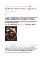 """Revue générale de psychanalyse    La psychanalyse: Mélanie Klein et Jacques Lacan    Das ist nicht ich das Ich."""" - """"Le je n'est Pas le moi.""""    Jacques Lacan, pasado - presente    PSYCHANALYSE 6 : Psychose et perversion  Numéro 6    École Lacanienne de Psychanalyse - Publications"""