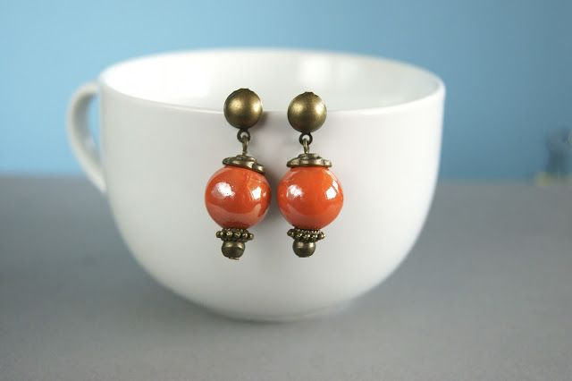 vintage earrings handmade