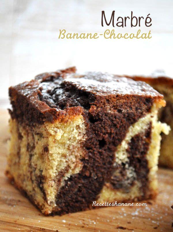 Le marbré fait partie des gâteaux très plébiscités par les enfants, la version classique est moelleuse et agréable en bouche, mais je trouve qu'elle manque de goût, d'où l'idée de l'agrémenter toujours avec un autre ingrédient, ici j'ai utilisé une banane...