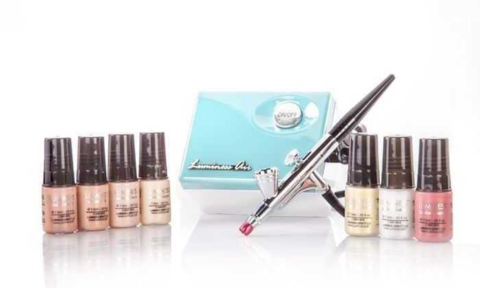 Luminous Air airbrush makeup system: Apply flawless makeup, from primer to glow, with a continuous-airflow airbrush system that can be used by beginners