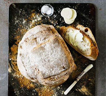 Don't be daunted by making a sourdough bread starter at home - this easy, overnight version makes a lovely loaf