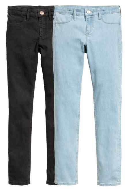 Skinny Fit Jeans, 2 perechi