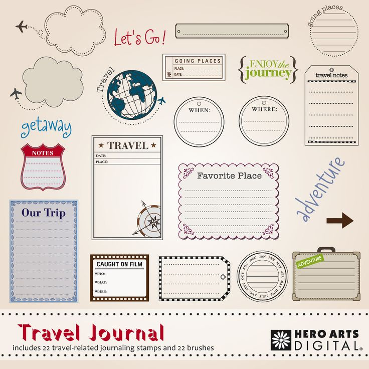scrapbooking journaling ideas | ... FAVES: On the road again with great travel scrapbooking products