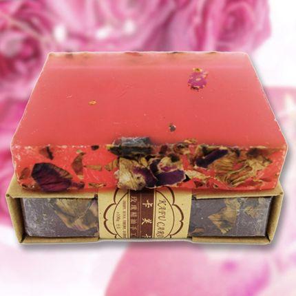 Handmade soap essential oil , face soap rose moisturizing whitening moisturizing