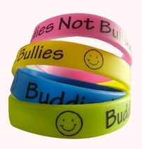 Buddies Not Bullies Wristbands - Anti Bullying Wristbands http://promocorner.com.au/silicone-wristbands/