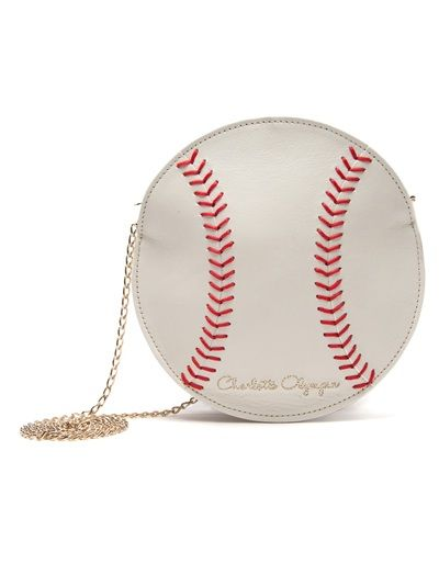 Shop CHARLOTTE OLYMPIA 'Play Ball!' Bag from Farfetch - Go Yankees!