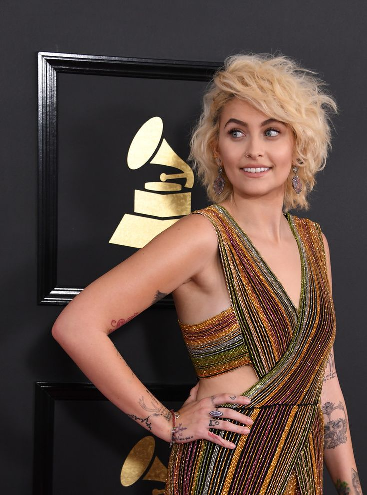 Short Hairstyles Lookbook: Paris Jackson wearing Short Curls (1 of 13). Paris Jackson looked fabulous with her teased curls at the 2017 Grammys.