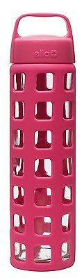 NEW Ello Pure 20-oz Glass Water Bottle Silicone Sleeve PINK FREE SHIPPING