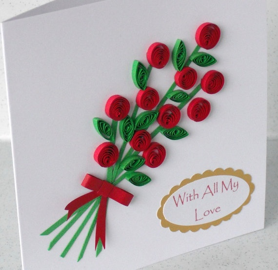 26 best Quilling images on Pinterest  Bouquet of flowers Button