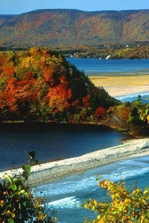 Cape Breton Highlands National Park is located on northern Cape Breton Island in the province of Nova Scotia. One-third of the Cabot Trail passes through the park featuring spectacular ocean and mountain views.