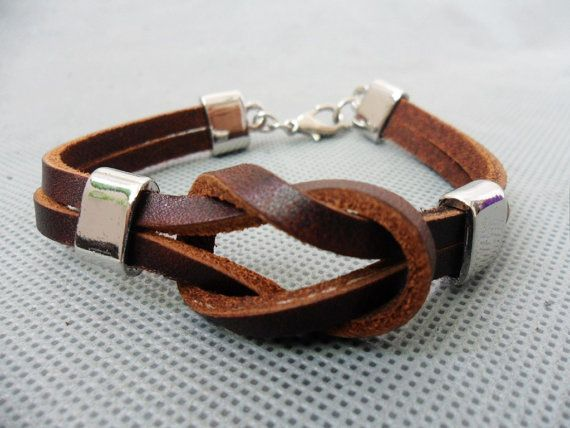 Brown leather bracelet MXS