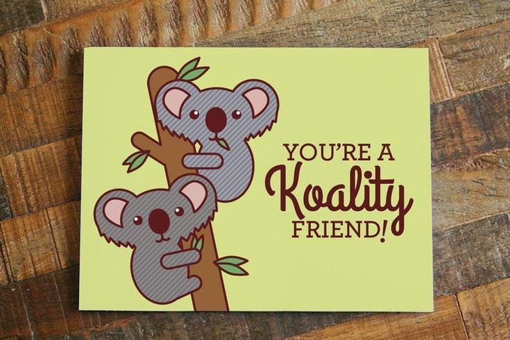 Funny Friendship Card Koality Friend Pun Card Etsy Cute Thank You Cards Funny Thank You Cards Birthday Cards For Friends