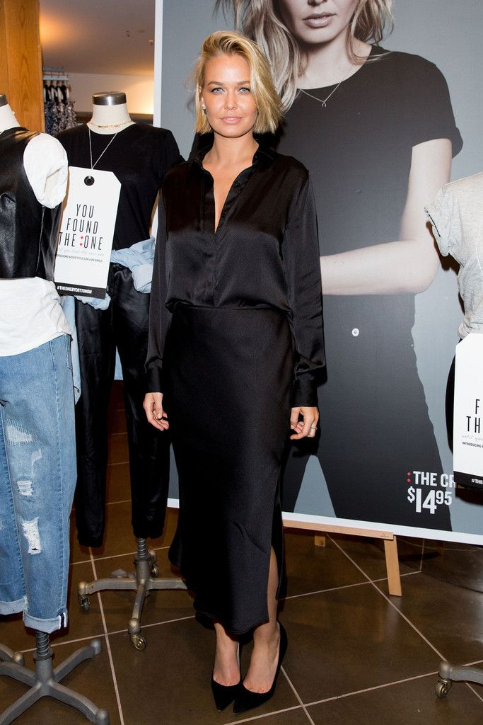 Lara Bingle attends the Cotton On launch of 'The One' at Cotton On Sydney City on July 8, 2014 in Sydney, Australia.