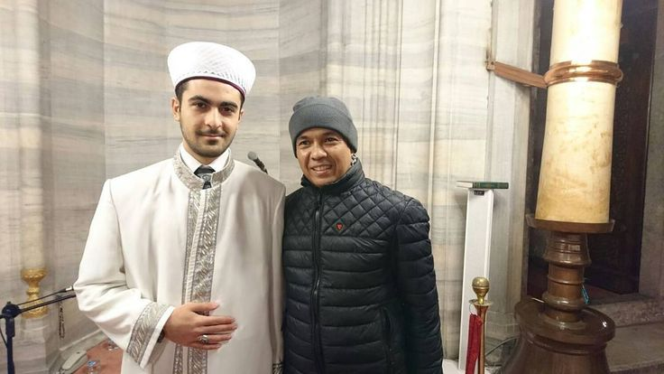 Pak Yan dg Syeikh Ali Imam Masjid Istanbul Turki. by yusufmansurnew