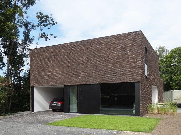 S3a vrijstaande woning genuanceerde gevelsteen 09 for Moderne vrijstaande woning