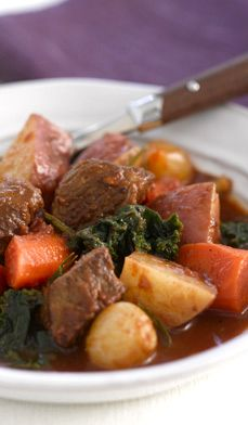 Tender Lamb Stew - Start with lamb shoulder or stewing meat, add the vegetables and potatoes, and this stew will practically cook itself.