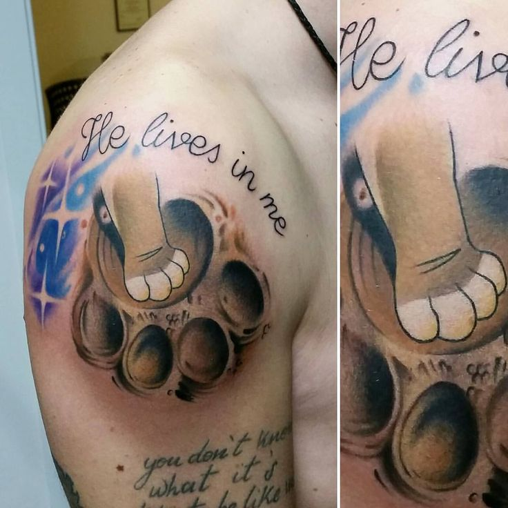 """""""Mi piace"""": 92, commenti: 4 - Edoardo T.A.G. Taglioretti (@edotag) su Instagram: """"Tatuaggio ispirato al film """"Il re leone"""", zampa di Simba e orma di Mufasa 😊👍 @disneytatts…"""""""