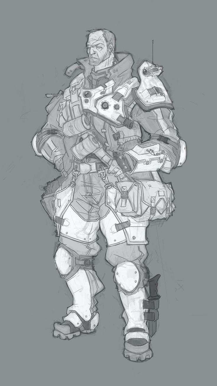 early Cabot concept for the game Evolve.