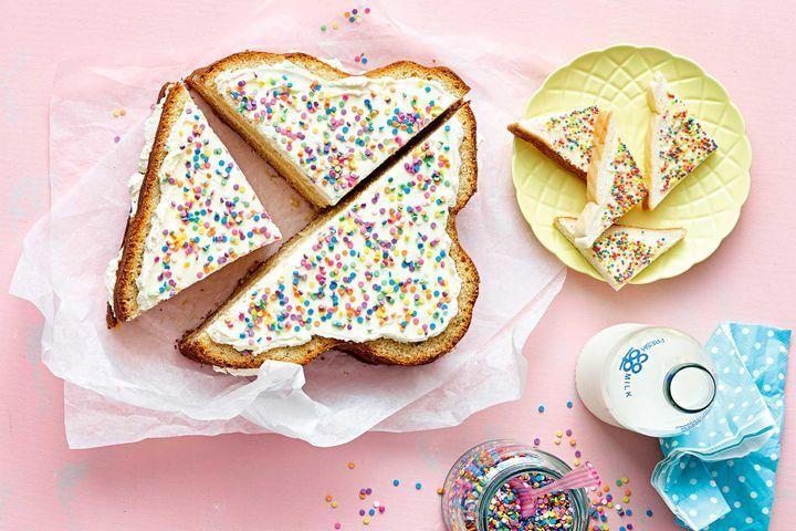 Giant fairy bread cake