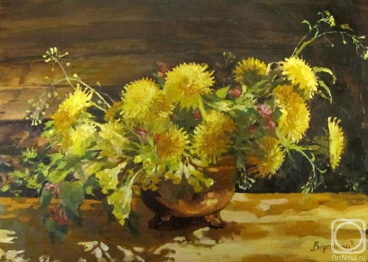 Vedeshina Zinaida.  Bouquet of dandelions