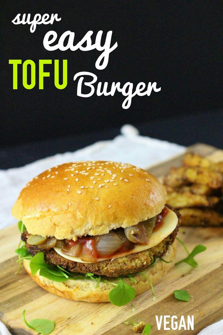 Un burger au tofu et des frites maison au four : deux recettes toutes simples à tomber ! :-)