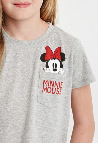 Minnie Mouse Pocket Tee (Kids) | Forever 21 girls - 2000172574