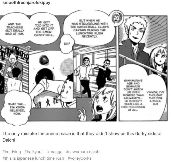 haikyuu manga daichi funny