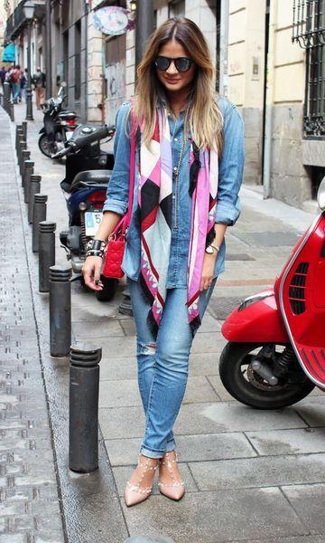 Look: Thássia Naves - All Jeans + Lenço